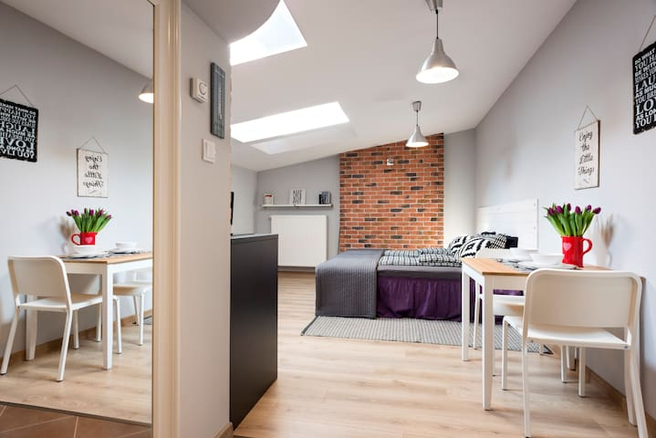 Loft Studio in Krakow Old Town with AC - Kraków