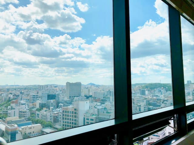 [City view7]Hongdae cozy room/Hongik univ.stn.1min