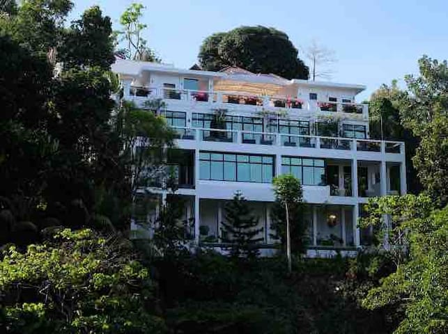 A 4 story, thousand sqm of living space up in the expensive hill side of Cebu overlooks the jade mountains of Busay,. The French Villa offers a fresh cooler air, stunning views of sunrise and a guaranteed relaxing, fun stays with loved ones.