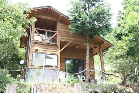 Japanese-Style Log house in Countryside - Oguni-machi