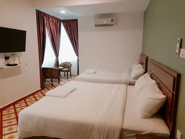 Pearl Inn Taiping Double Queen Room with View