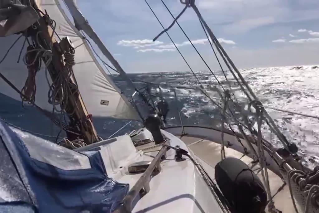 Passeggiata a vela nello stretto di Messina