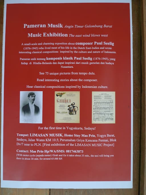 Unique Music Expo about classical composer Paul Seelig (1876-1945), for the first time in Indonesia.