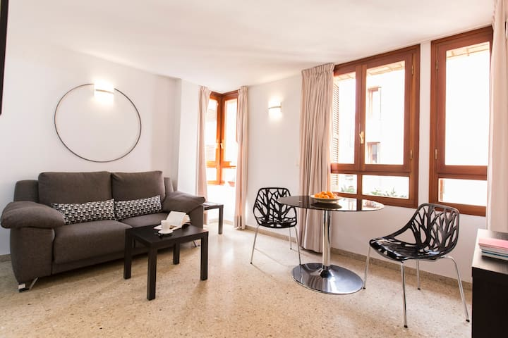 Cozy bright apartment Cathedral area + WIFI