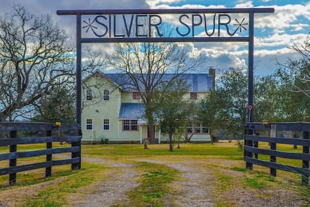 Silver Spur-1800's Farmhouse on 40 acres w/ pool!