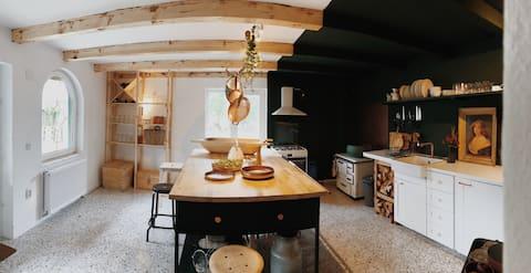 Cozy Cottage in Authentic Saxon Village