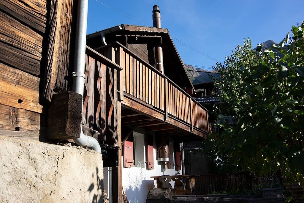 Chalet with balcony and terrace