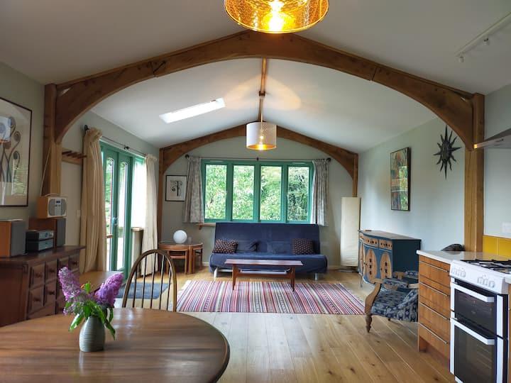 Beautiful log cabin set in tranquil surroundings