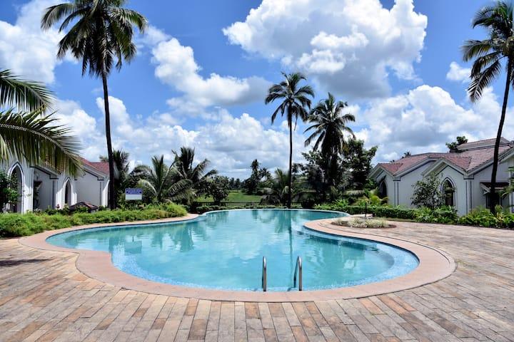 2bhkSpacious Poolfacing@Riviera Sapphire@SiolimGoa