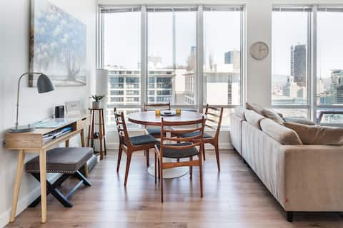 Serene Downtown Condo with City and Mountain Views