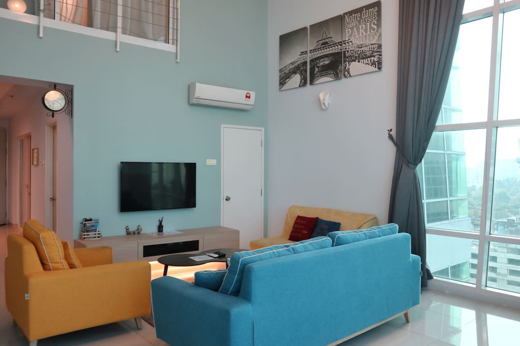 Our large living area is perfect for big and small group who is wanting not just see Penang, but live in Penang.