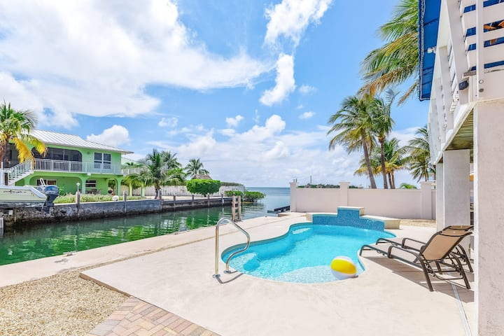 Delightful canalfront home w/ private pool, gas grill, WiFi, and water views!