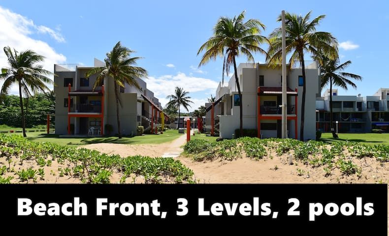Beach front ! 3 levels! Terrace next to Yunque