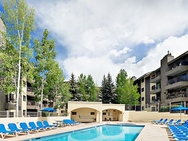 The heated complex pool is open year-round.