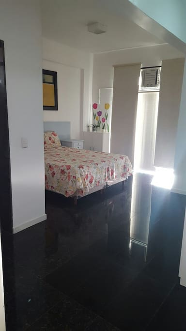Spacious and bright master bedroom with terrace