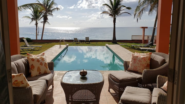 Ocean Front Villa 1, Infinity Pool (Ground Level)