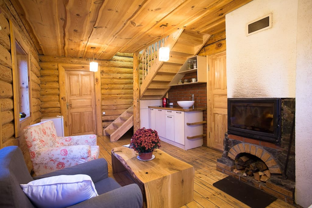 Cosy fireplace for long autumn evenings