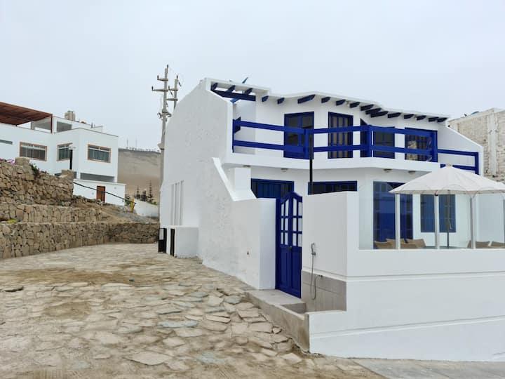 Bonita Casa de Playa con Piscina con vsita al Mar