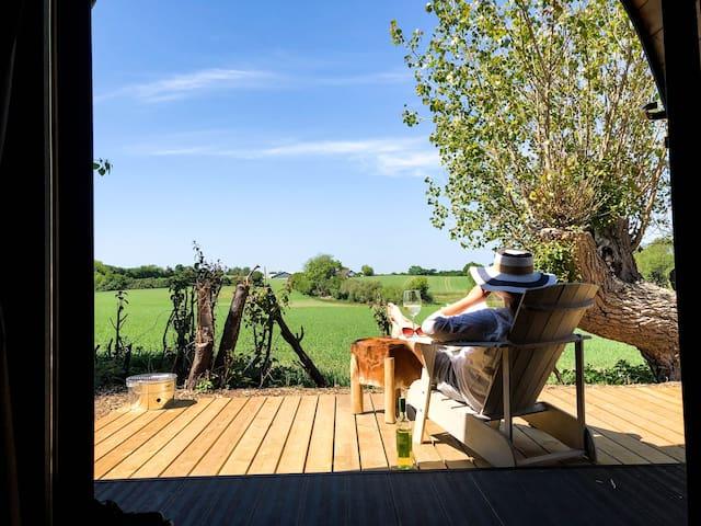Unik ferie hytte til 2 personer.