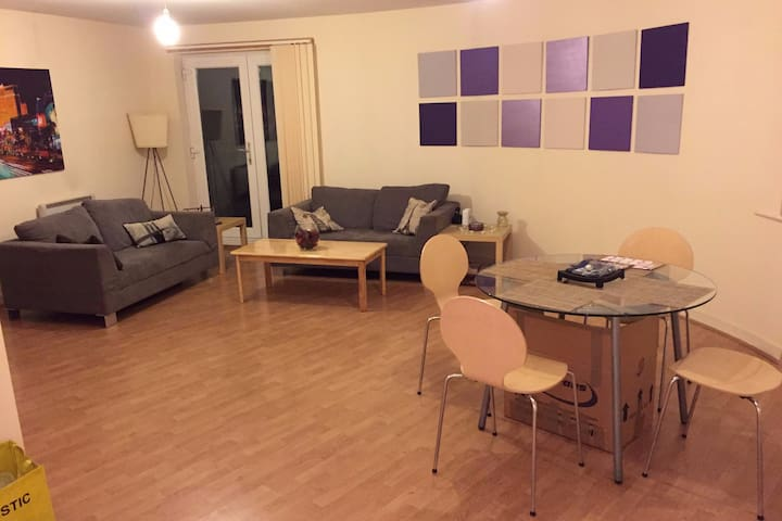 Large Double Bedroom/bath-Manchester City centre - Salford - Apartamento