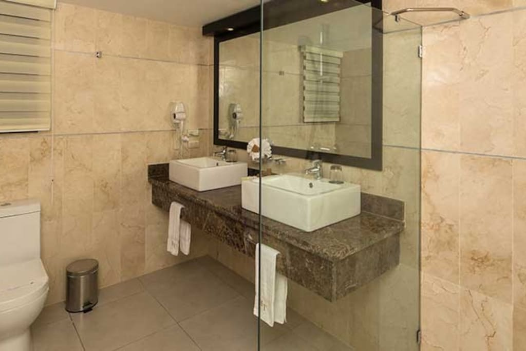 Modern bathroom facilities to have you relax after a long day
