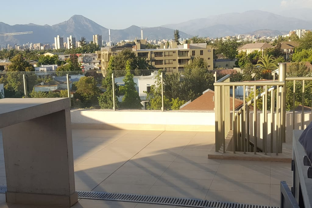 Roof terrace with barbeque