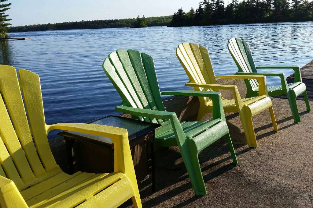 comfy deck chairs to enjoy incredible panoramic views of the lake or close view of the little ones swimming