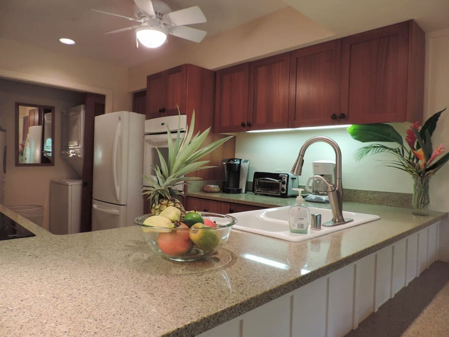 Kitchen recently remodeled with granite