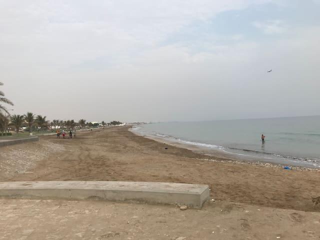 200m from Azibah beach, One master BR, bath inside