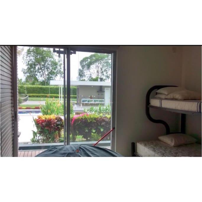 Habitaciones con Baño Privado cada una y vista a las Zonas Húmedas