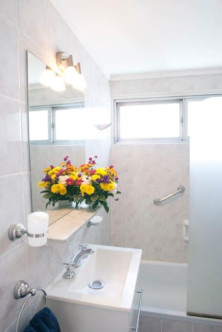 Full bathroom, bath, shower, WC, bidet