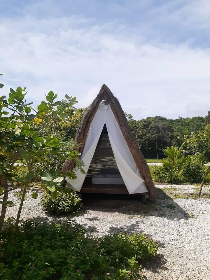 Bella cabaña en la playa de Cartagena
