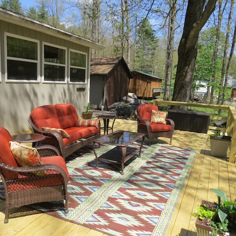 Riverfront Retreat with new outdoor living space