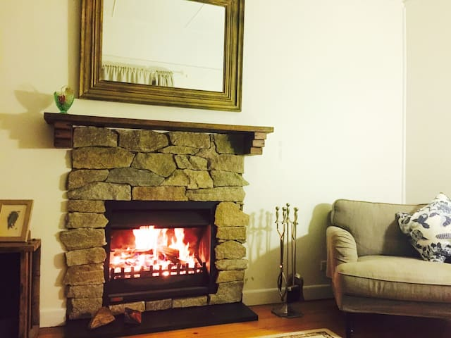 The open fire is one of the charms of Werona giving you heat and ambience