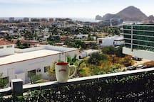 Habitación con baño y terraza con vista al mar!!