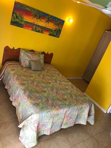 Queen Bed in Studio