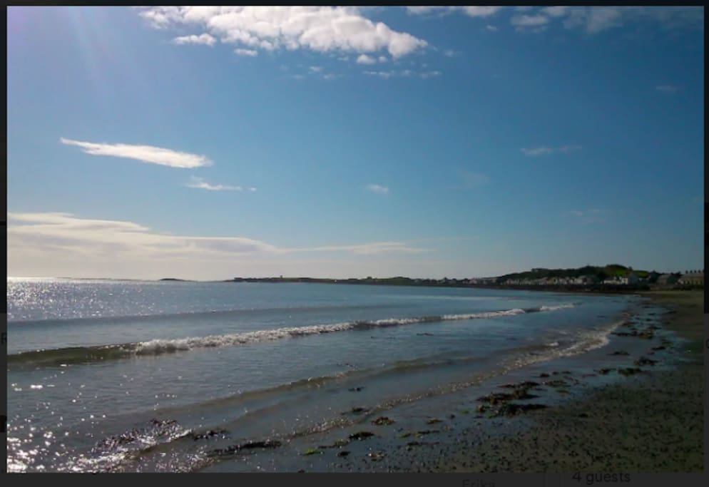 Ballyhalbert beach and harbour