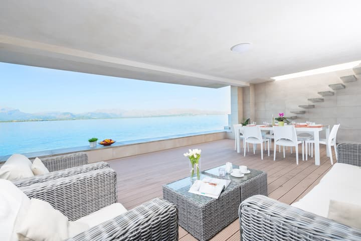 AIXA - Chalet with sea views in Es Barcarés - Alcúdia . Free WiFi