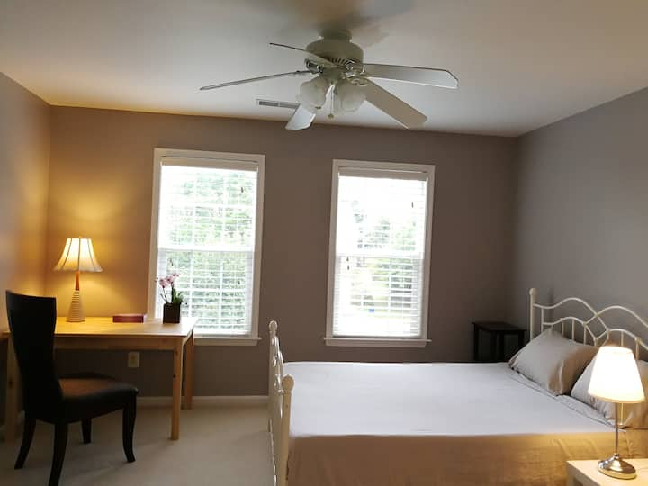 Master bedroom (in-suite bath) upscale community