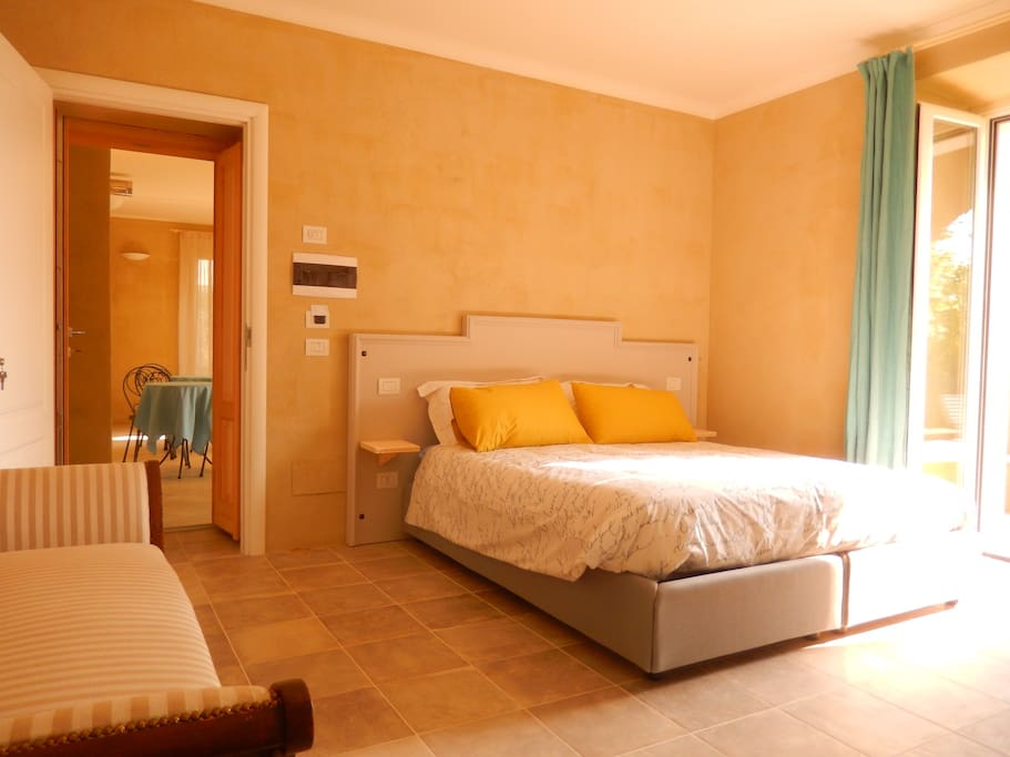 The bedroom with the comfortable double bed