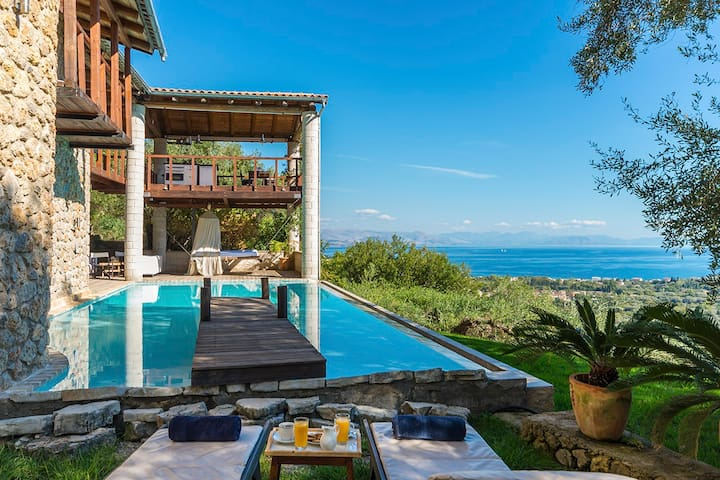 """VILLA BOURNELLA """"the Sexiest villa in Europe"""" and """" one of 50 best villas in Europe"""" by Sunday Times."""