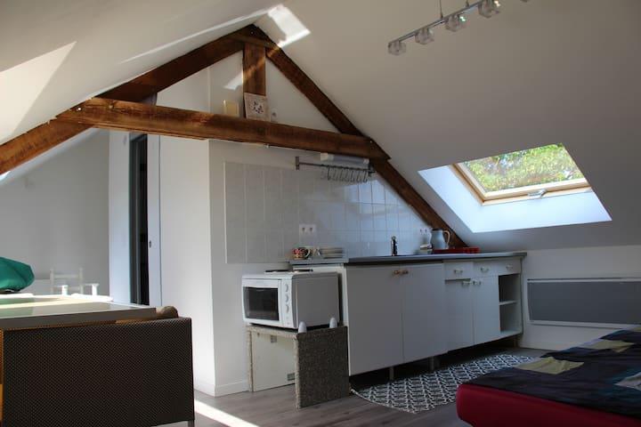 Studio 4 couchages, 15 kms de Lille sans vis à vis - Beaucamps-Ligny - Casa