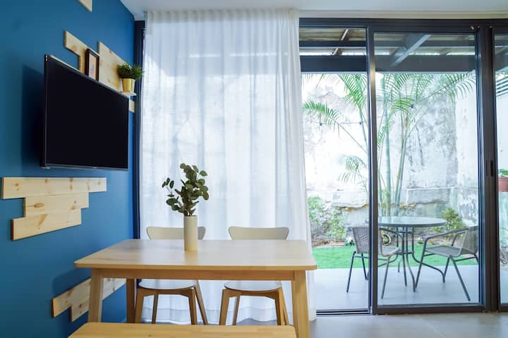✧ Marvelous 1BR + Private Garden+Balcony\\Netflix✧