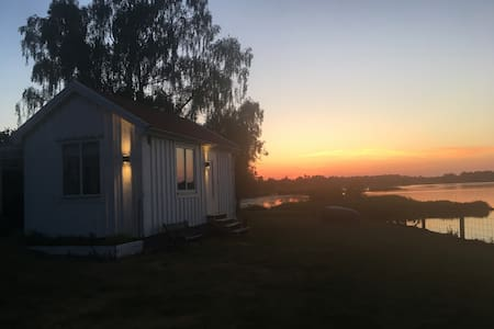 Modern oceanview cottage near Kalmar City