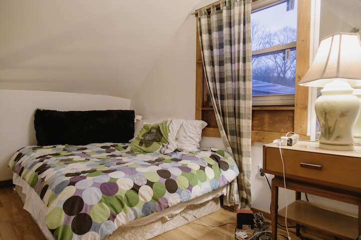 The queen sized bed is heated. Try it out on a cold night