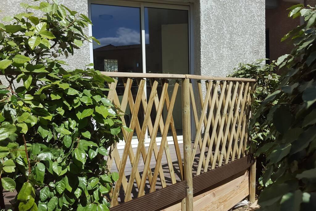 Terrasse sécurisée pour les enfants