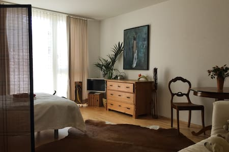 spacious room in artist home close to city centre