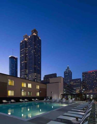 Nice Skyline View Chill Spot Downtown Atlanta