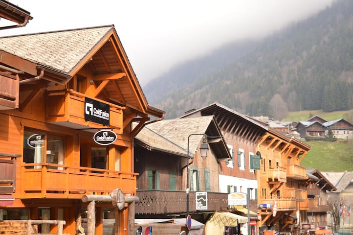 Chalet located on main high street of Morzine
