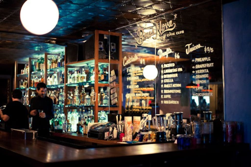 There are tons of bars and clubs in the area that are within walking distance. Otherwise, a quick subway ride or cheap cab ride can get you to anywhere else